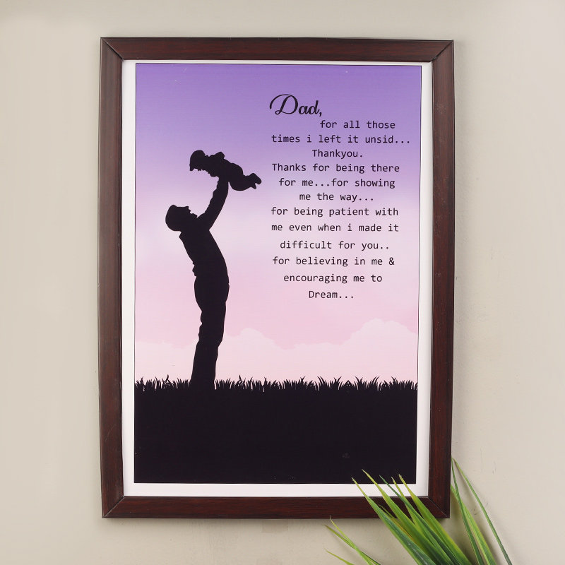 Lovely Wall Frame For Dad