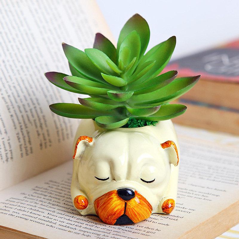 Adorable N Lazy Dog Vase
