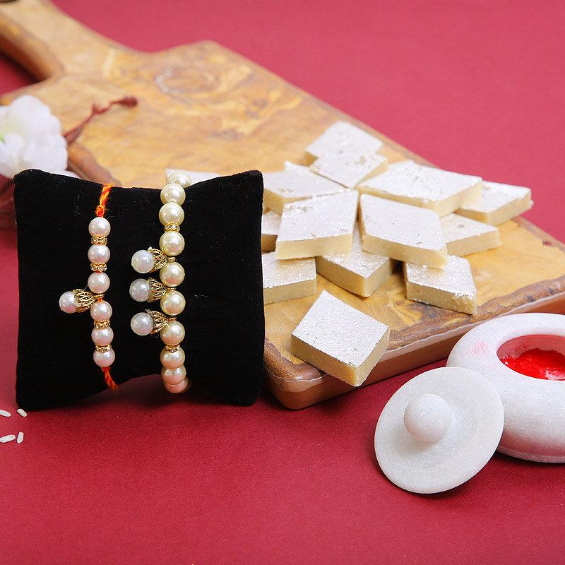 Aesthetic Beads Rakhi Combo