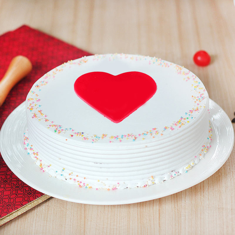 Anniversary Cake with Fondant Hearts