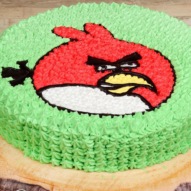 Zoom view of Angry Bird Birthday Cake