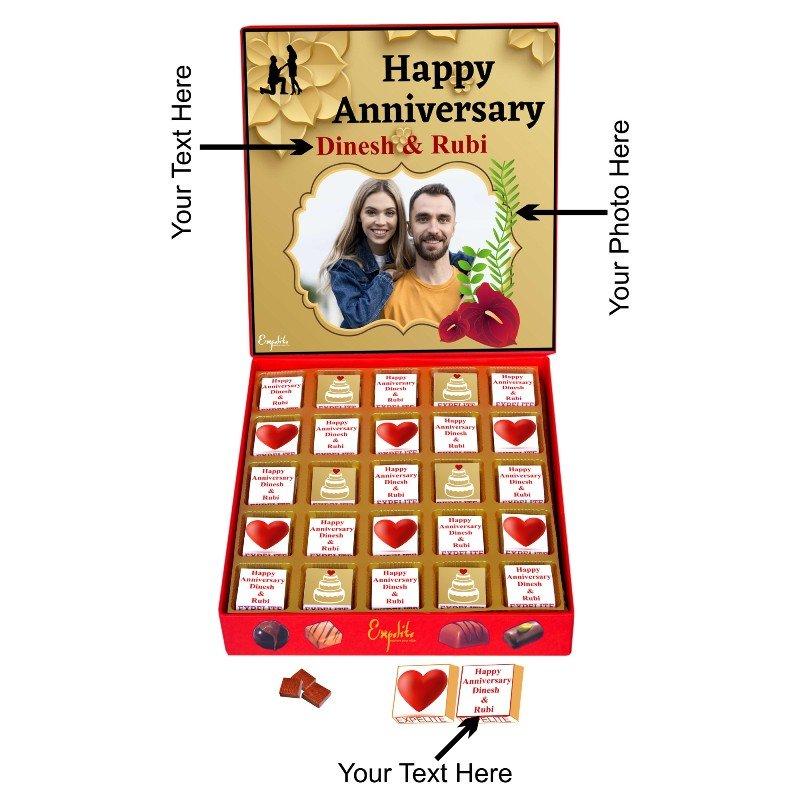 Anniversary Personalised Chocolates