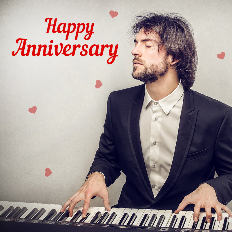 Wish Happy Marriage Anniversary With Piano Surprise