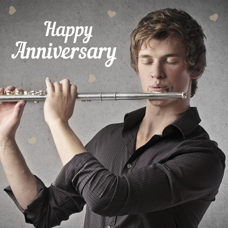 Send Anniversary Wishes On Flute