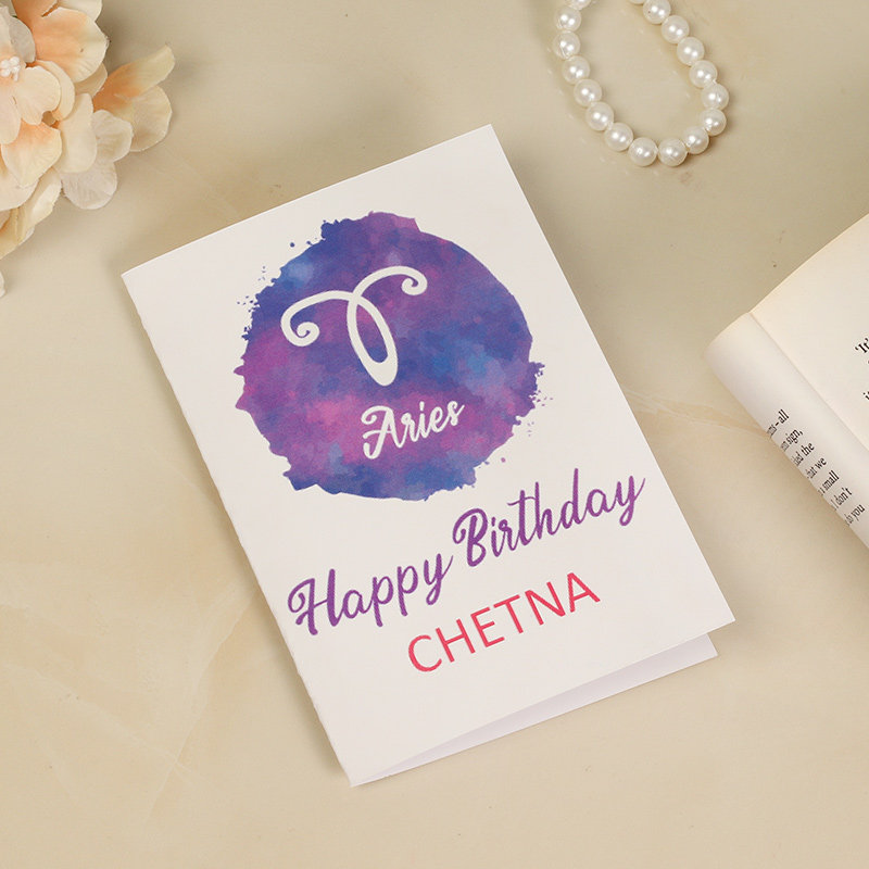 Side view of Personalised Birthday Greeting Card for Husband