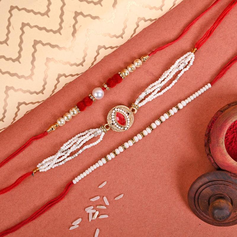 Set of 3 Designer Rakhi - Aristocratic Rakhi Pack