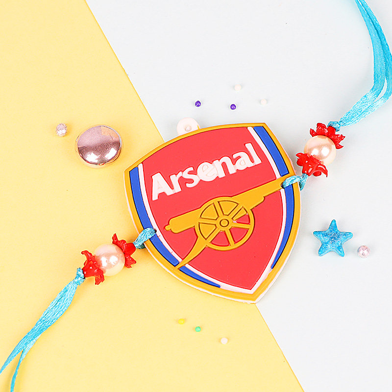 Rakhi in Arsenal FC Rakhi and Cadbury Bournville Combo for Kids