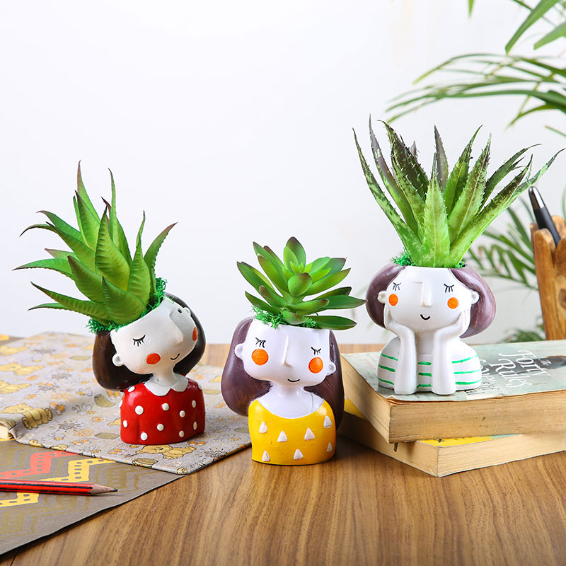 Artificial Plants In A Cute Girls' Vase