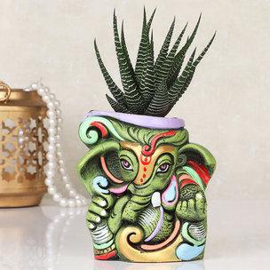 Artistic Haworthia Ganesha Pot