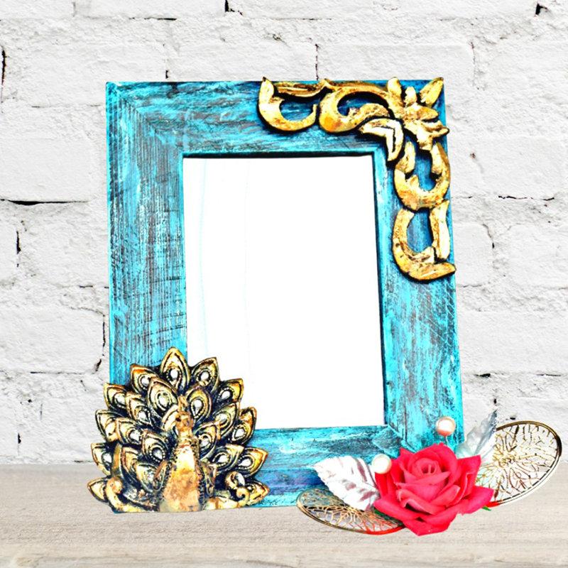 Artsy Peacock Frame