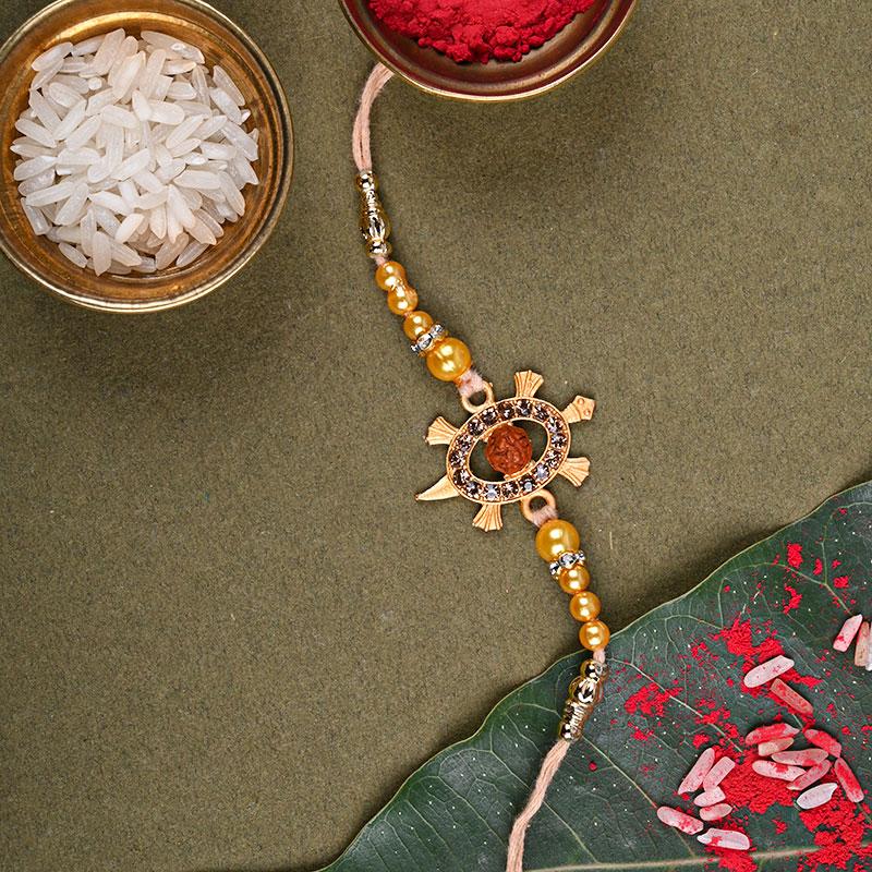 Auspicious Ornamental Turtle Rakhi