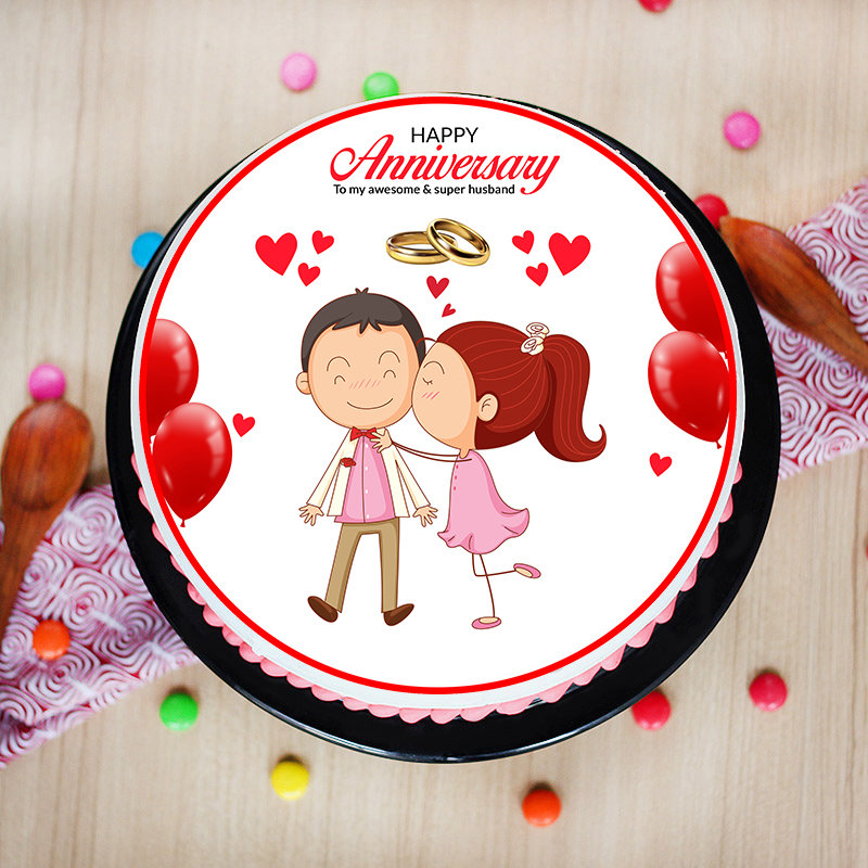 Order Online Anniversary Cake for Husband