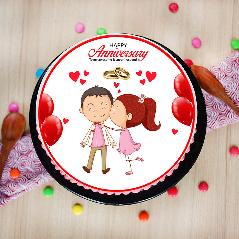 Online Anniversary Cake Delivery for Husband