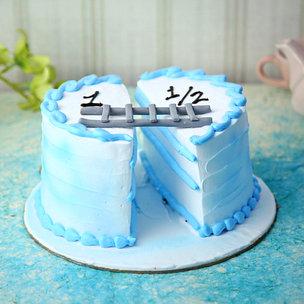 Baby Blue 1+1/2 Cake