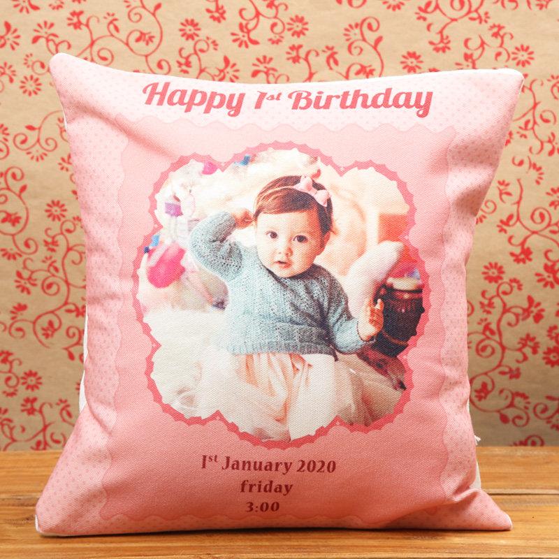 Baby First Birthday Cushion