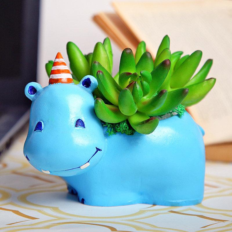 Baby Hippo Raisin Pot With Plant