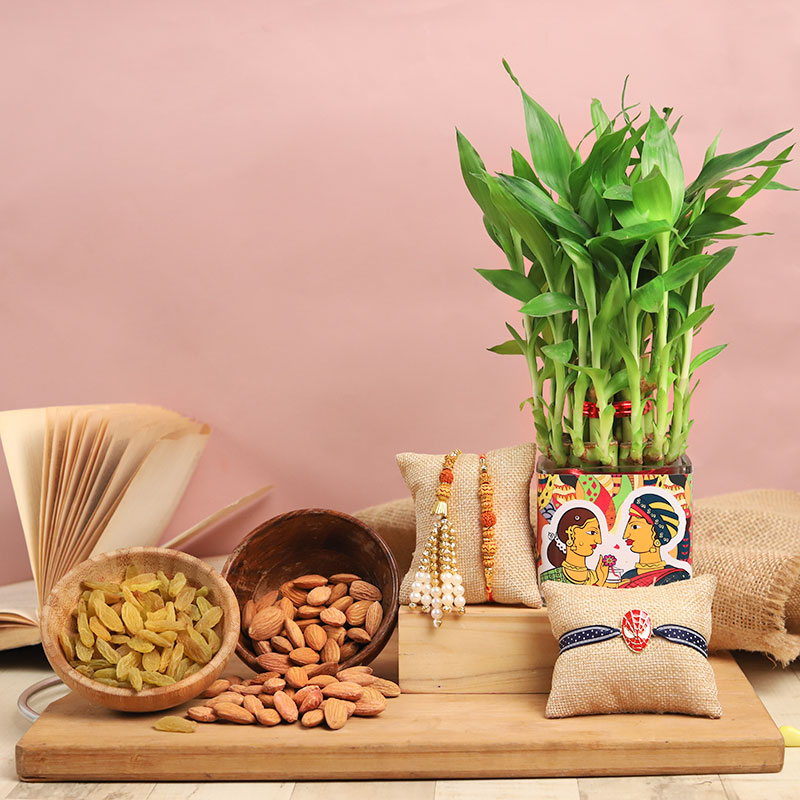 Bamboo Family Rakhi N Nuts