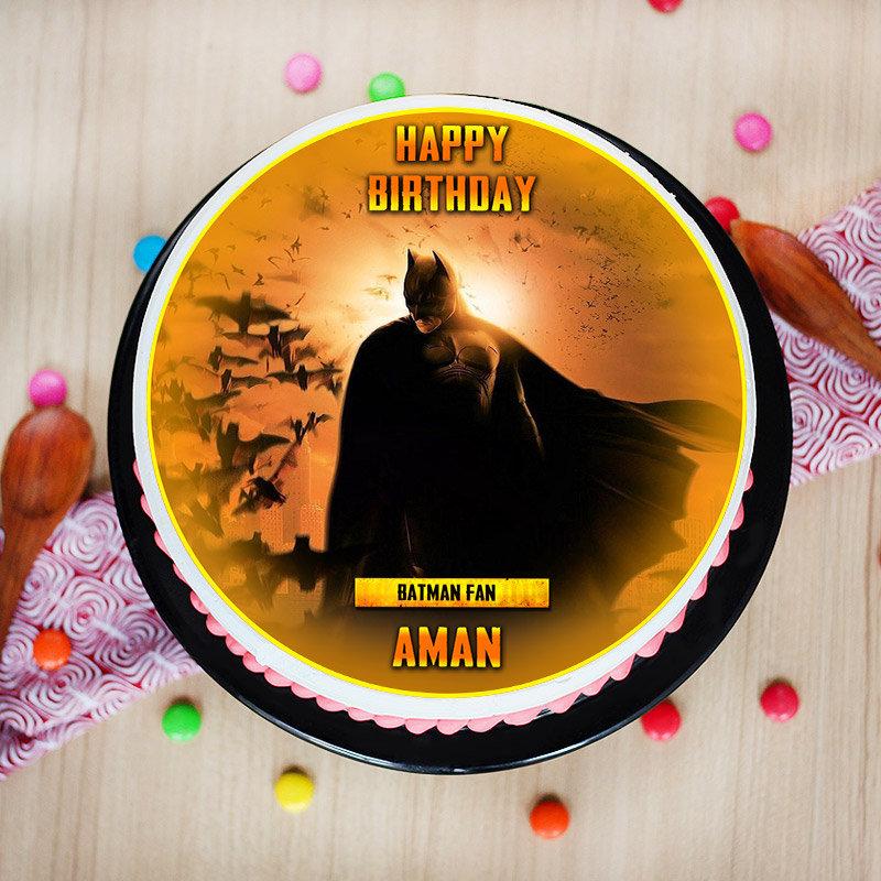 Batman Poster Cake