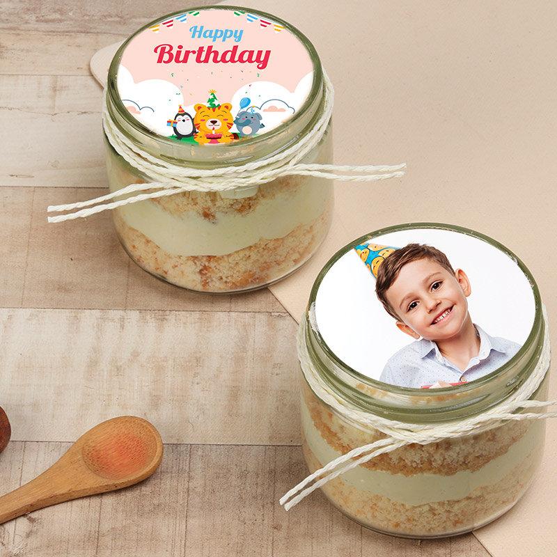Bday Photo Buterscoth Jar Cake