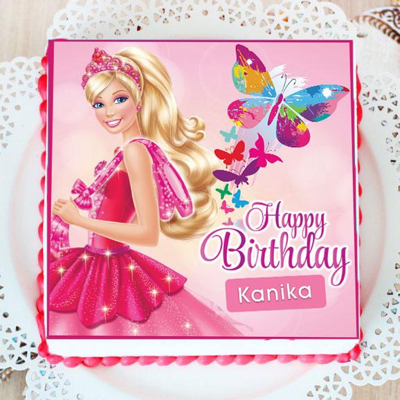 Barbie Birthday Poster Cake