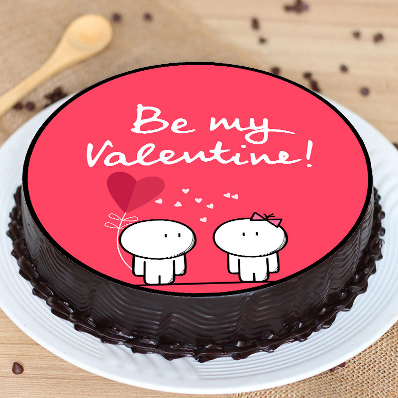 Be My Valentine Poster Cake