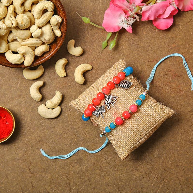 Beads Cashew Rakhi Combo