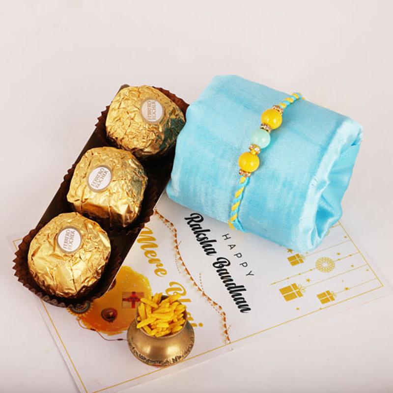 Beads Rocher Rakhi