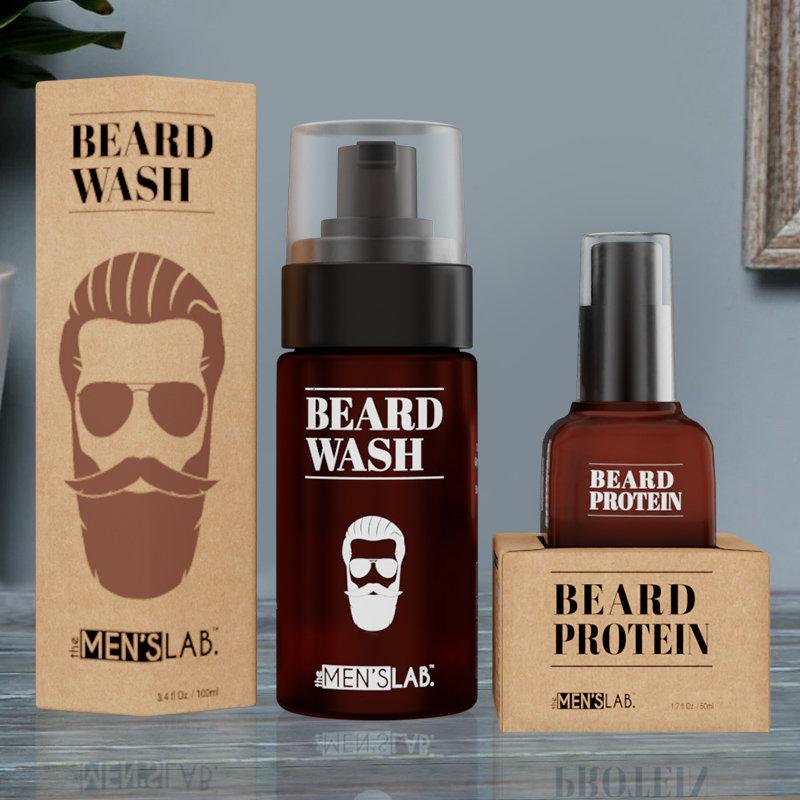 Beard Love Combo - Beard Wash and Beard Protein