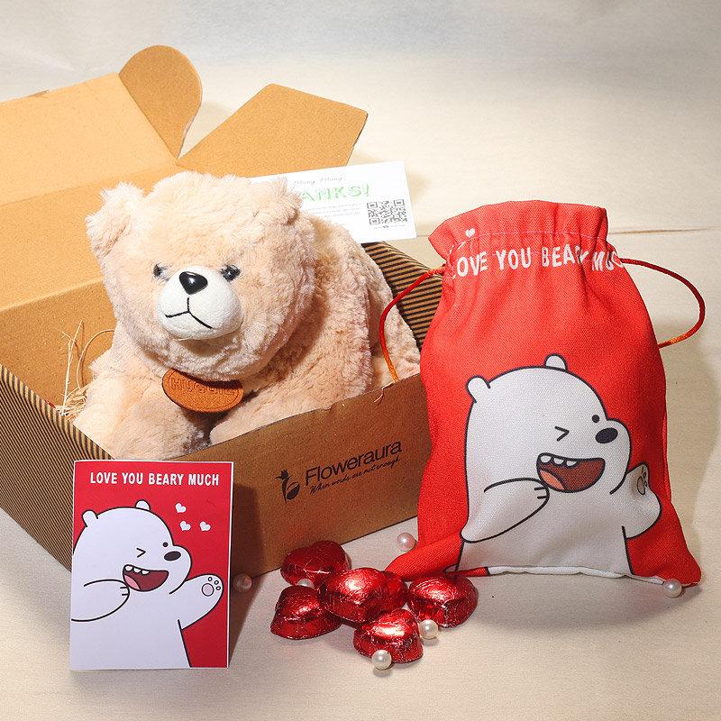 Valentine Day Soft Toy - Polo Bear
