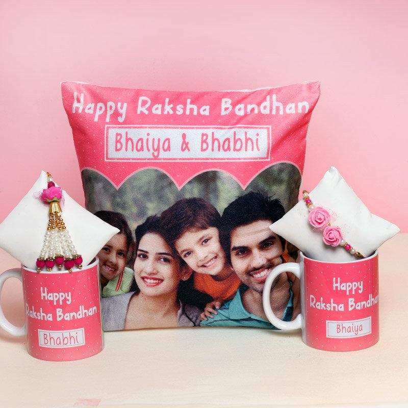 Bhaiya Bhabhi Rakhi Personalised Combo