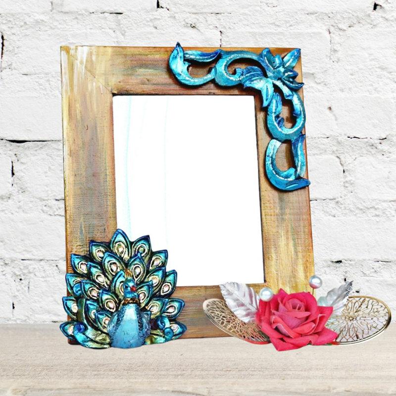 Gorgeous Peacock Wooden Photo frame