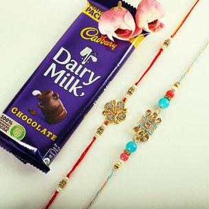 Beautiful Rakhi And Choco Treat