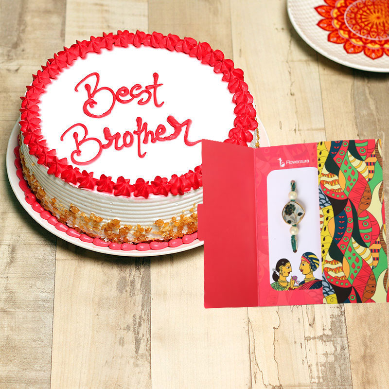 Cake with Rakhi Combo