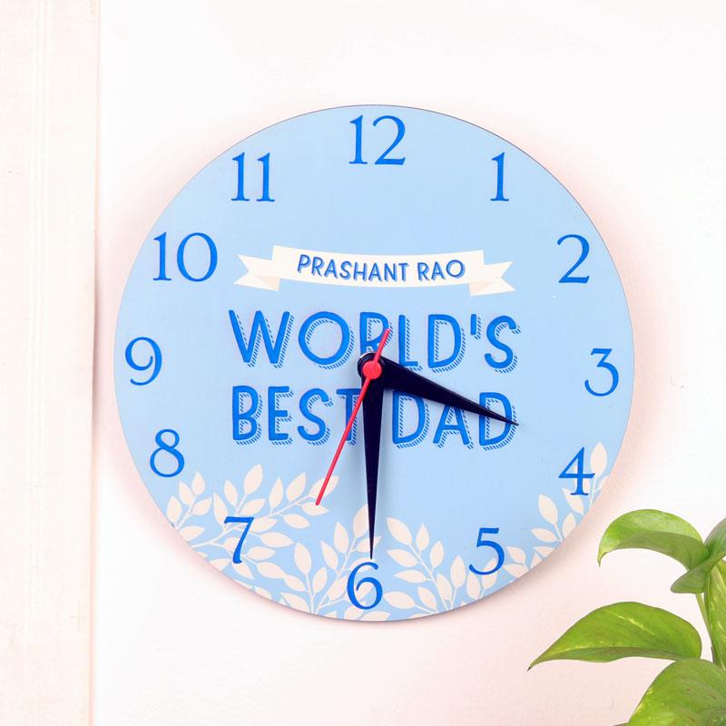 Best Dad Customised Clock