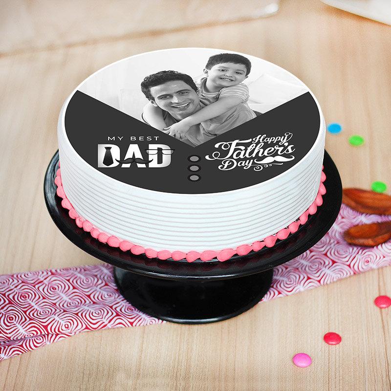 Best Dad Delish Photo Cake