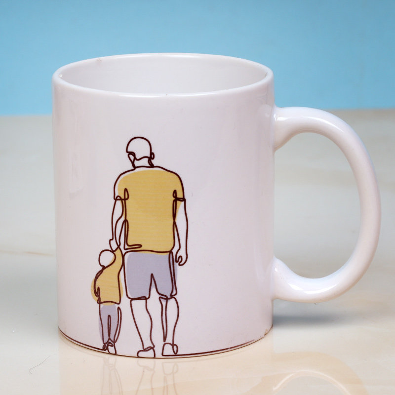 Best Father's Day Gift- Personalised White Ceramic Mug Back View
