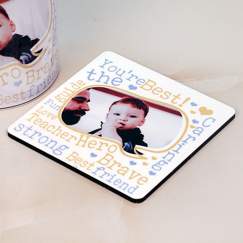Best Fathers Day Gift - Personalised Coaster