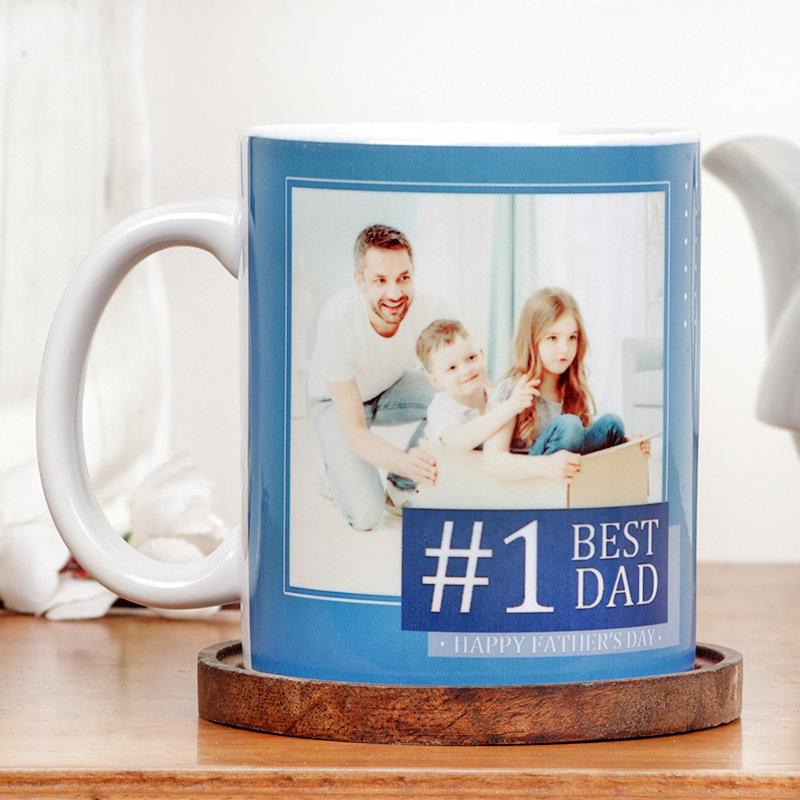 No.1 Dad Personalised Fathers Day Mug