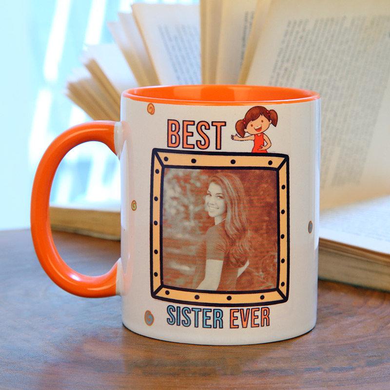 Best Sister Custom Mug Gifts for Sister on Rakhi