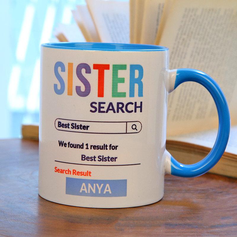Best Sis Search Custom Mug