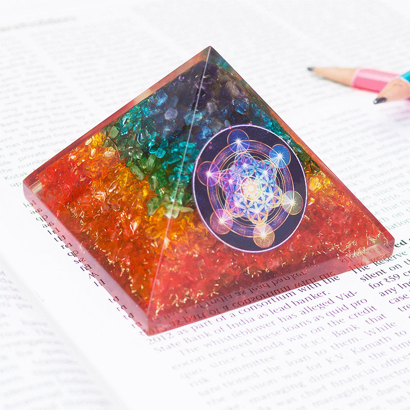 Bewitching Pyramid Prism - Pyramid Prism Home Decor FengShui Crystal