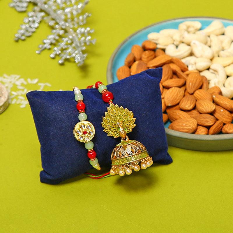 Bhai Bhabhi Rakhi Gifts Online in USA Full View
