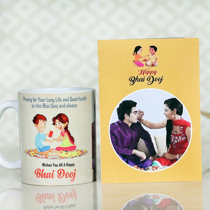 Bhai Dooj Mug Card Combo