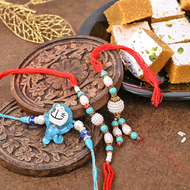 Bhaiya Family Barfi Rakhis for bhaiya bhabhi rakhi with sweets