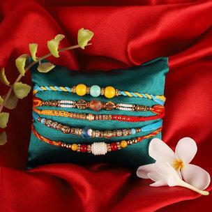 Big Five Traditional Rakhi Combo