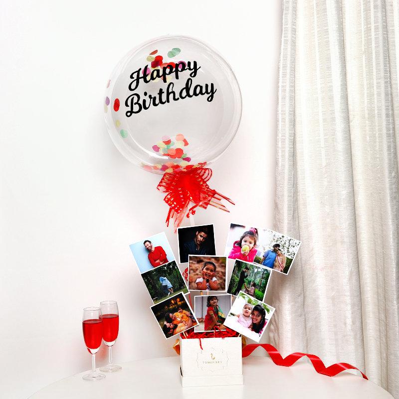 Birthday Photo Balloon Box
