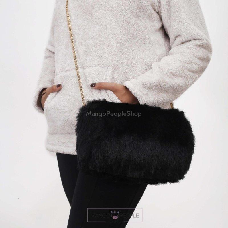 Black Fur Clutch