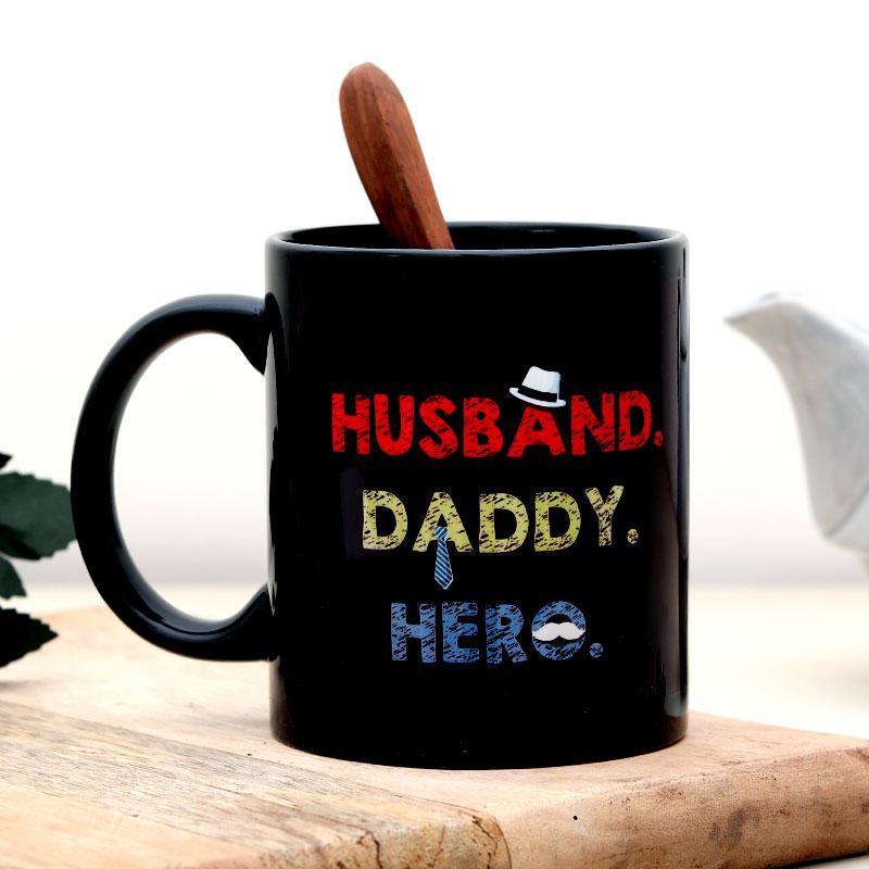 Black Printed Fathers Day Mug
