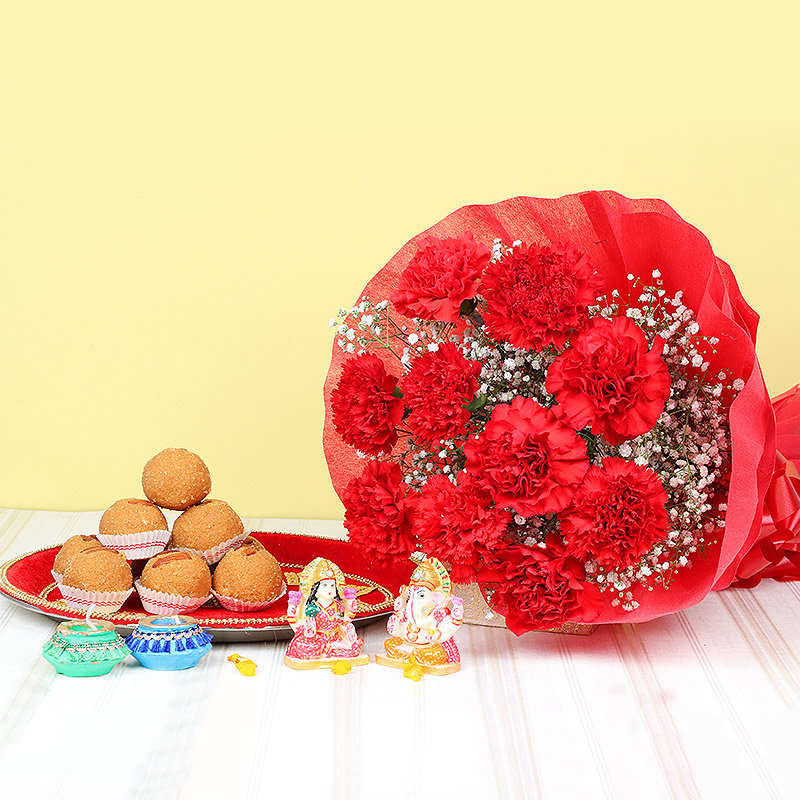 Diwali Gift Set of Pooja Thali&#44