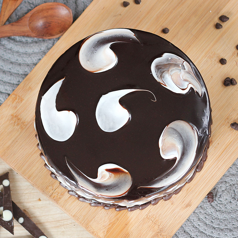 Appetizing Choco Marvel Cake - Top View